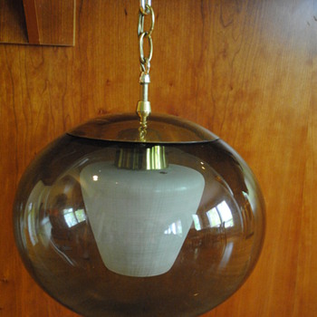 Retro Globe Hanging light with interior shade