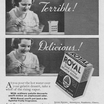 1934 - Royal Desserts Advertisement