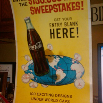 "Coca Cola ""tour the world' sweepstakes poster - Posters and Prints"