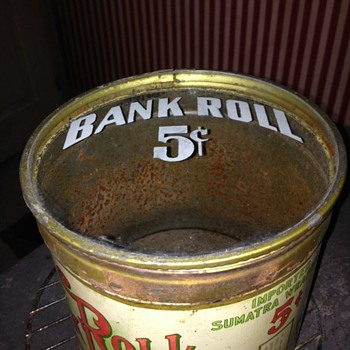 5 cent tobacco tin - Advertising