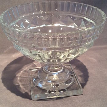 Antique glass footed bowls