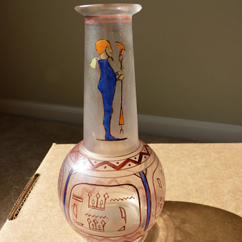 Moser Egyptian vase - Art Glass