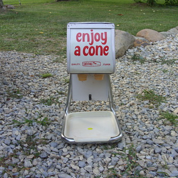nice ice cream cone dispenser - Advertising