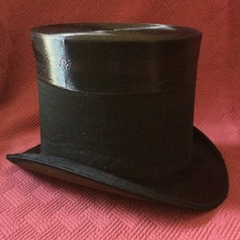 Late 1800's Vogel Brothers Mourning Top Hat