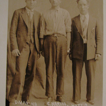 1930 Original Arrest Photo 3- Prisoner's,  Jersey City, N.J.