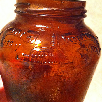 Anchor Hocking Amber Glass Jar