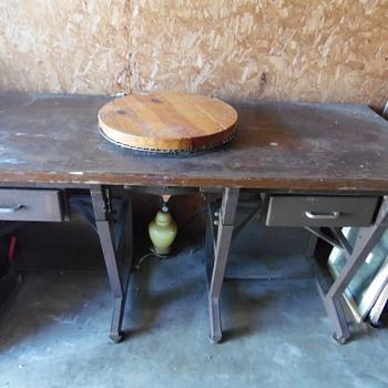 Rare Antique Big Boy Brazier,National Cash Register Co. Table - Furniture