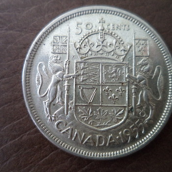 50 cents Coin - Canada 1955