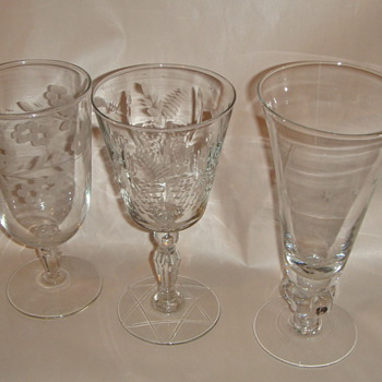 glassware- 3 different patterns - Glassware