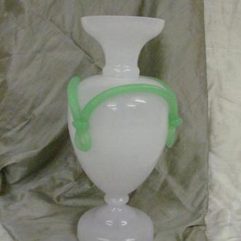 White vase - Art Glass