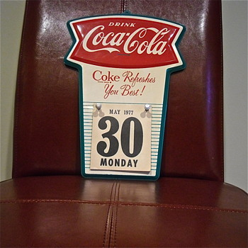 Coca Cola 1963  Metal Fishtail Calendar