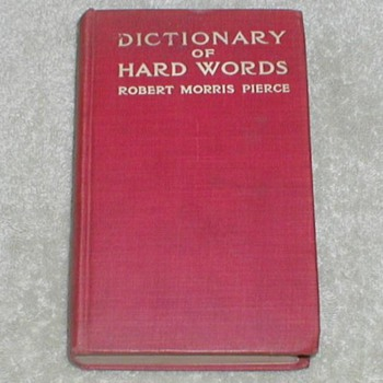 1910 Dictionary of Hard Words - Books