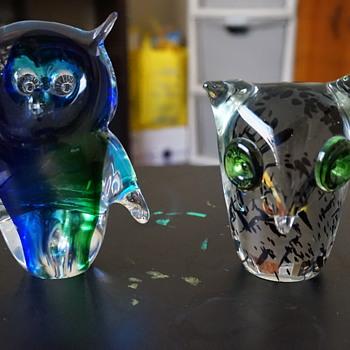Art Glass Owl - Art Glass