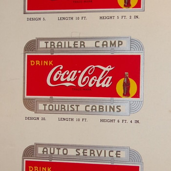 Coca Cola Catalog of signs