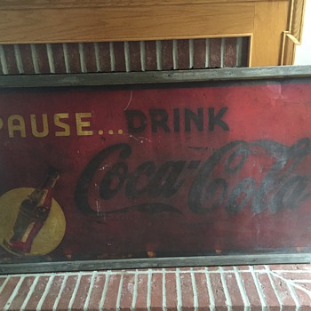 CocaCola large metal sign - Coca-Cola