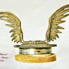 Winged Mascot Radiator Cap, France  -  Ailes Les Memes, Nickled Bronze