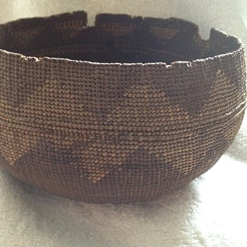 Mystery Antique Indian Basket - Native American