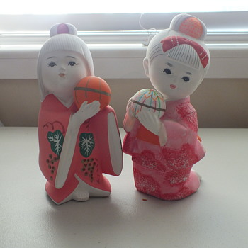 Japanese Clay Fire Doll