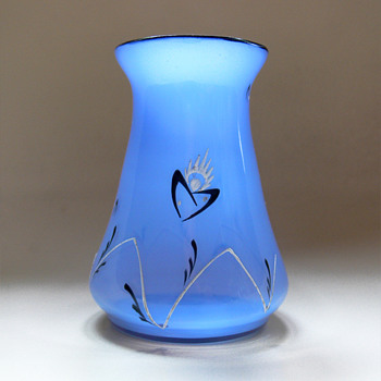 Loetz Tango vase with enamel decor