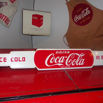 1950's Coca-Cola Porcelain Door Push