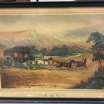 """Old lithograph titled: """"THE FAR WEST"""" by Vincent Brooks,Day & Son Litho - Visual Art"""