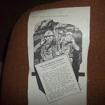 WW1 ARTICLE/ADVERTISEMENT