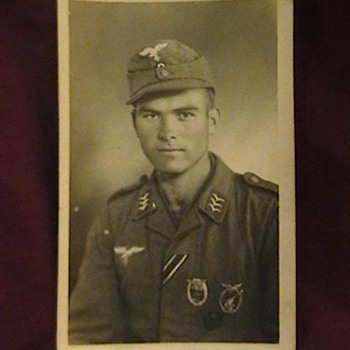 Original Photo, Luftwaffe Obergefreiter with Combat Badges