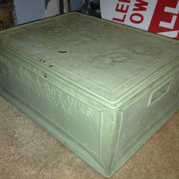 Coca Cola metal crate, 48 bottle