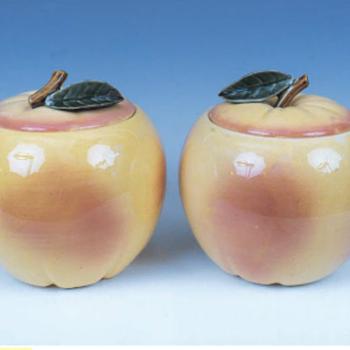 Blushing Apple Cookie Jar - Pottery