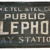 N.E. Tel. & Tel. Co. Public Telephone Pay Station Rectangle Sign