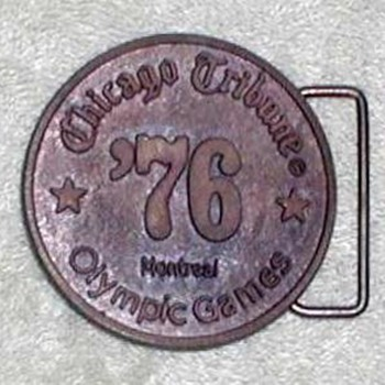 1976 - Olympic Games Belt Buckle - Accessories