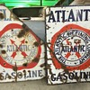 Twins 1930 Atlantic Gasoline signs