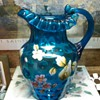 """Victorian. """"Inverted Thumbprint"""" Blue Pitcher"""
