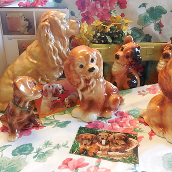 A Little Royal Copley Pottery Dogs for SpiritBear, and Fun! :^)