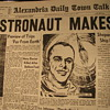 Front page news of Alan Shepard Jr and Freedom 7