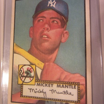 Mickey Mantle 1952 Topps card. Real or Fake - Baseball