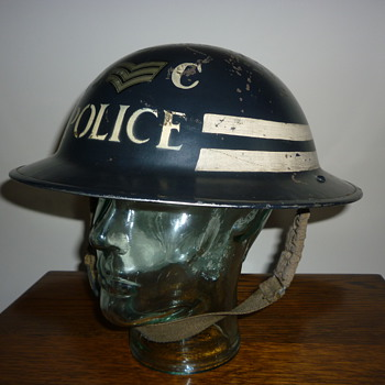 British WWII Special Constable Sergeant steel helmet. - Military and Wartime