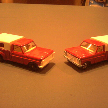 Ford trucks in regular wheels and the transitional superfast version with the chrome grille.