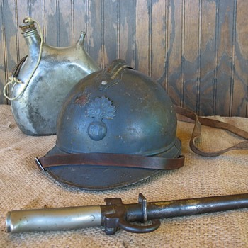 French Adrian M1915 Infantry steel helmet