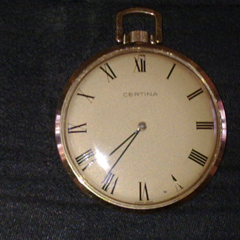 CERTINA OPEN FACE POCKET WATCH - Pocket Watches