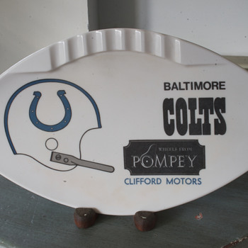 Baltimore Colts Ashtray….