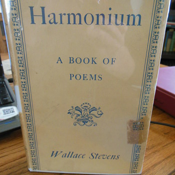 Harmonium by Wallace Stevens, signed