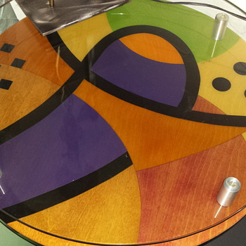 unknown 1960's inlaid table - Furniture