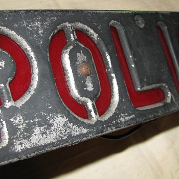 Vintage Police Vehicle Hood Light - Signs