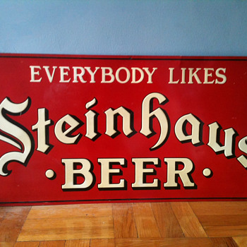 Steinhaus Beer Tin Sign