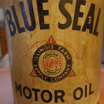 Blue Seal Motor Oil can