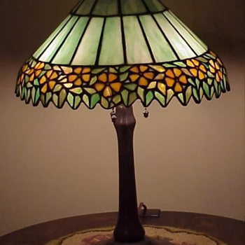Unique lampshade and Handel base