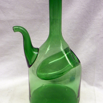 Strange Jug with Spout and ??? - Glassware