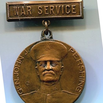 Los Angeles, California  WWI Service Medal - Military and Wartime