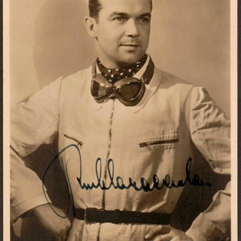 1938 - Mercedes-Benz Race Team - Rudolf Caracciola Photo Post Card
